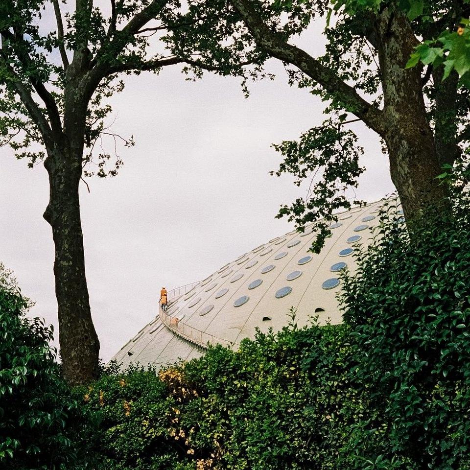 Kuppel zwischen Bäumen