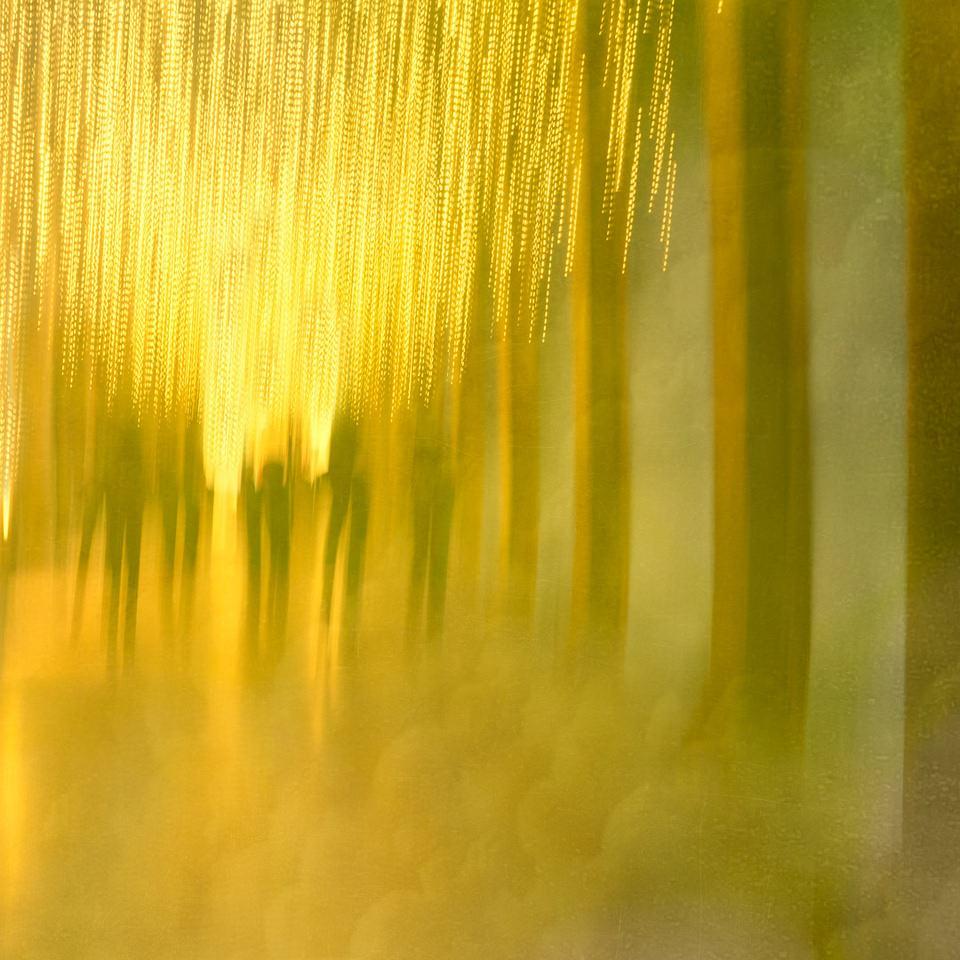 abstraktes Bild in gelb