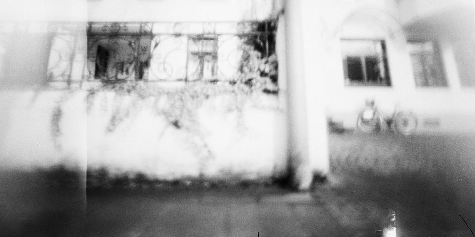 verschwommene Hausfassade