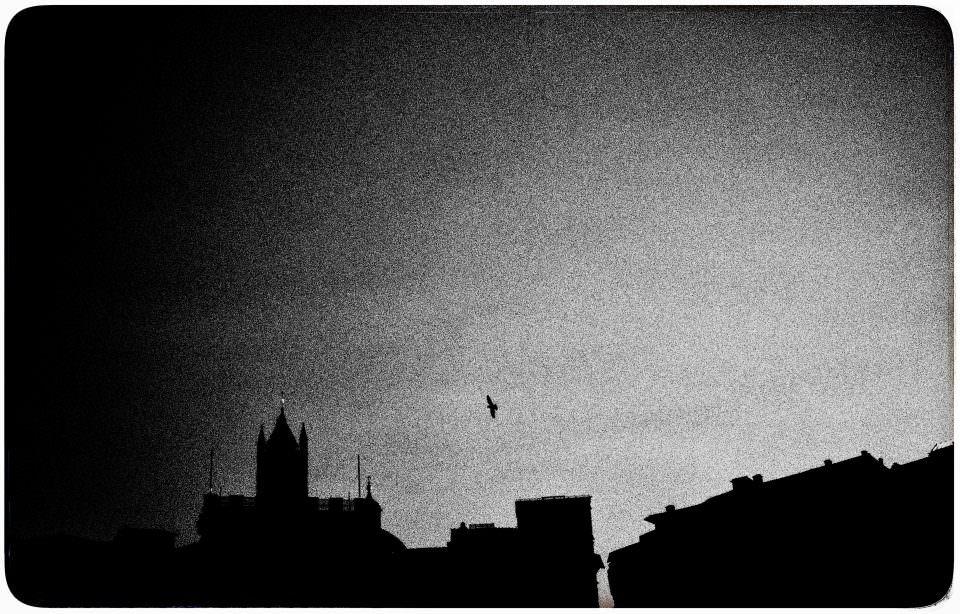 Silhouette einer Stadt