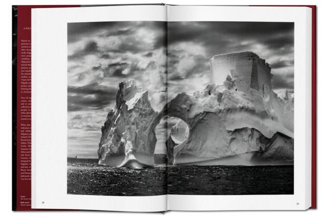 Abbildung eines Eisbergs in einem aufgeschlagenen Buch