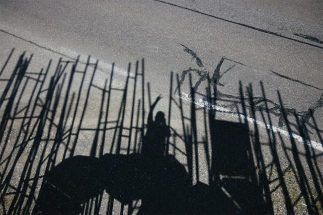 Schatten auf Beton