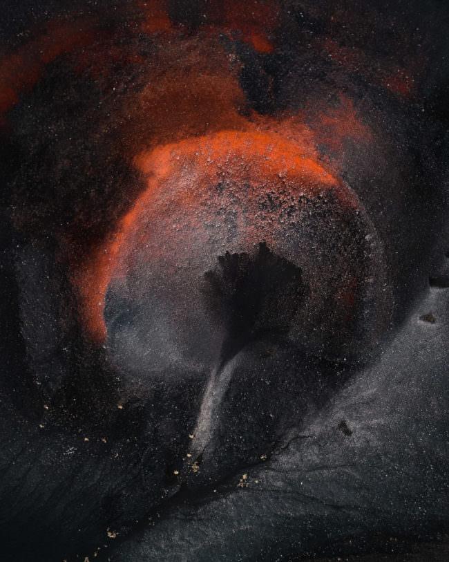 Krater von oben