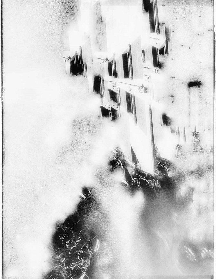 abstraktes Bild in schwarzweiß