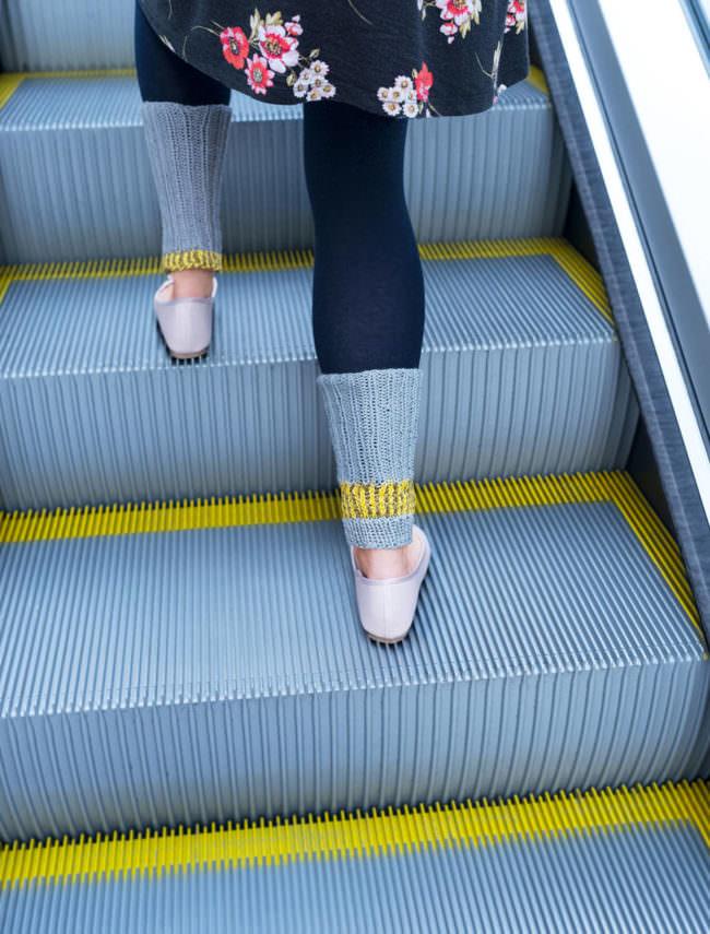 Rolltreppe mit Beinen