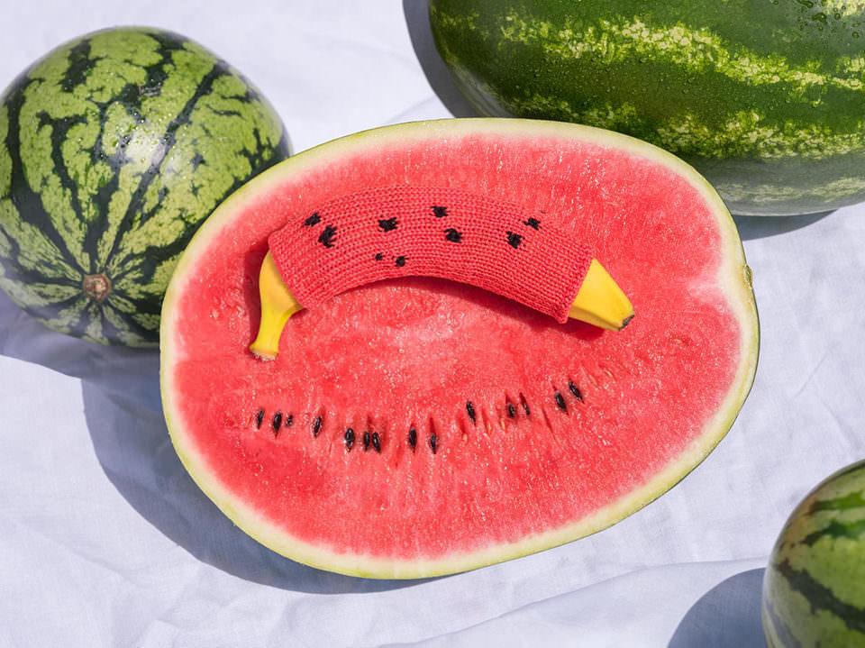 Melone und Banane