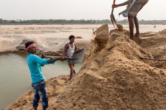 Arbeiter im Sand