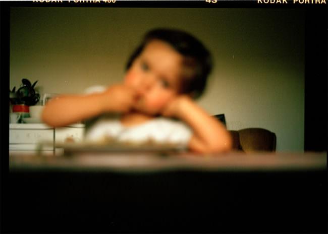 unscharfes Bild eines Kindes