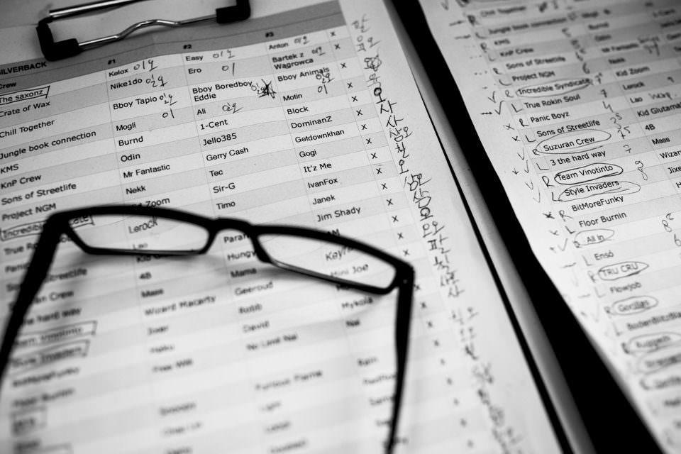 Brille und Dokument