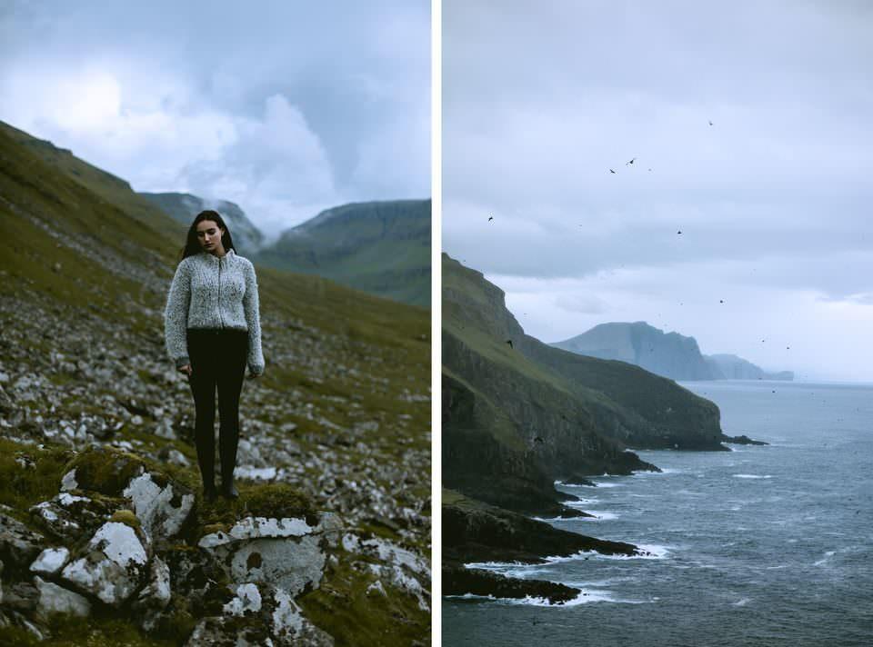 Diptychon Frau und Landschaft