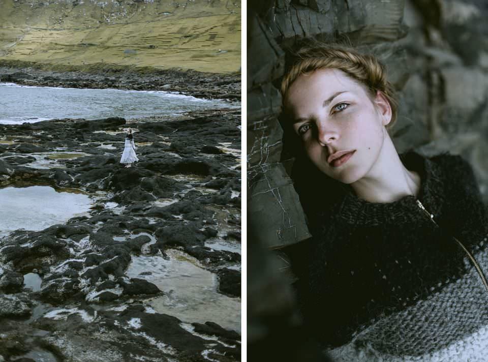 Diptychon Frau und Strand