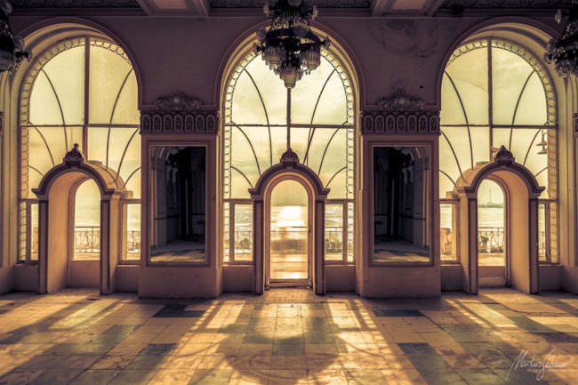 verlassene Halle