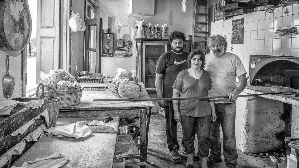 Gruppenportrait in einer Bäckeri