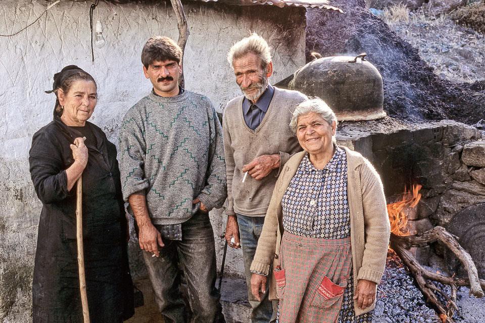 Gruppenportrait von vier Personen
