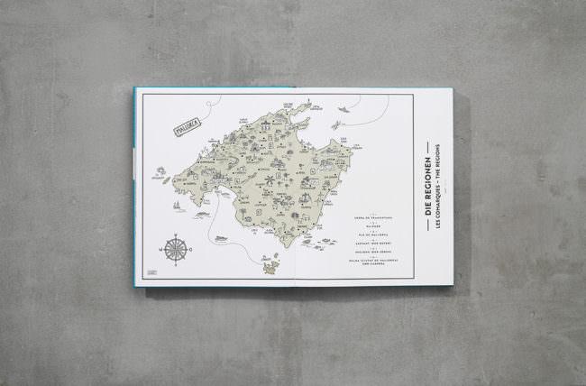 Landkarte in einem Buch