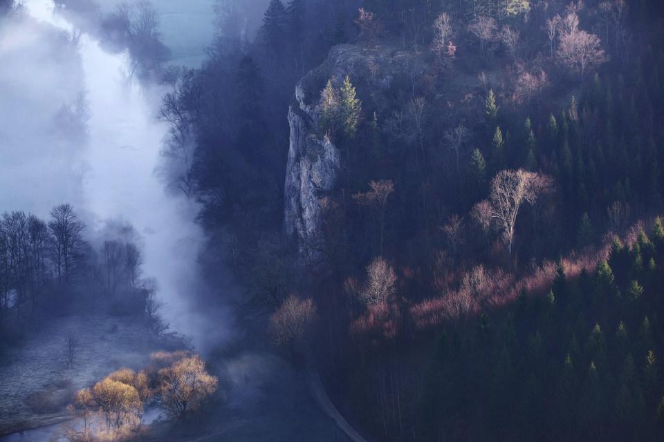 Landschaftsbild von Oben