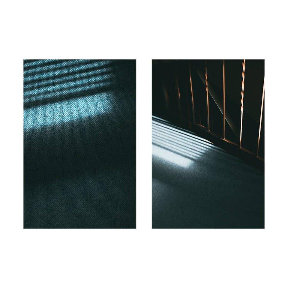 Diptychon: Lichtstreifen auf Böden