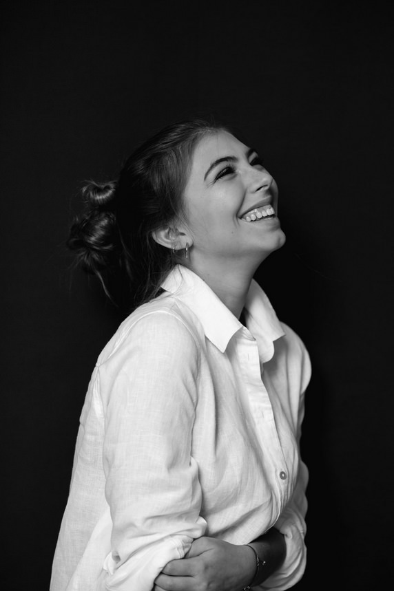 Lachende Frau