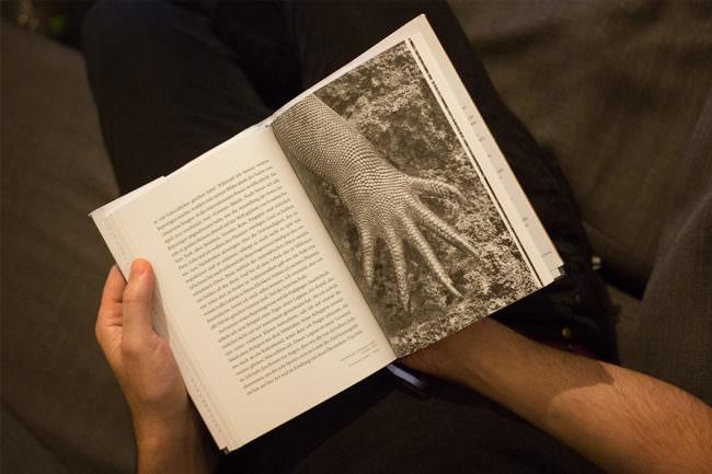 aufgeschlagenes Buch mit Foto