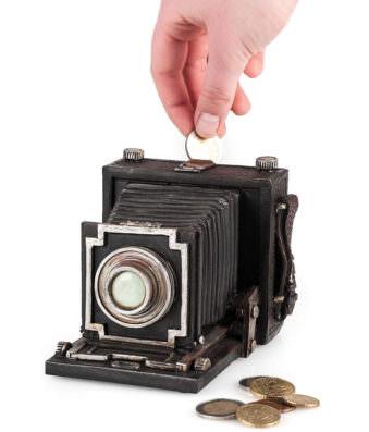 Kamera als Spardose