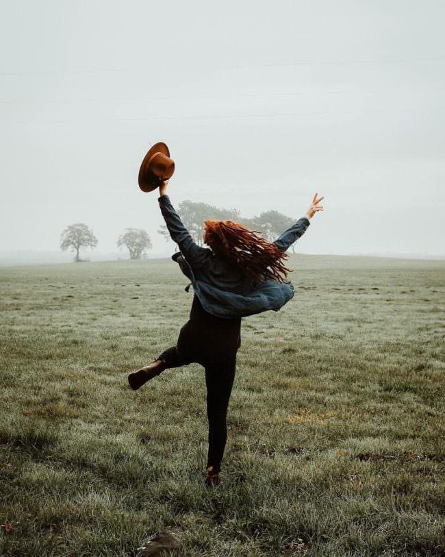 springende Person