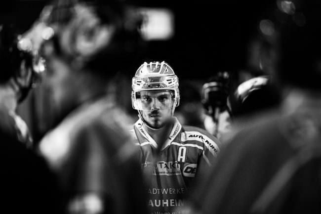 Portrait eines Eishockeyspielers