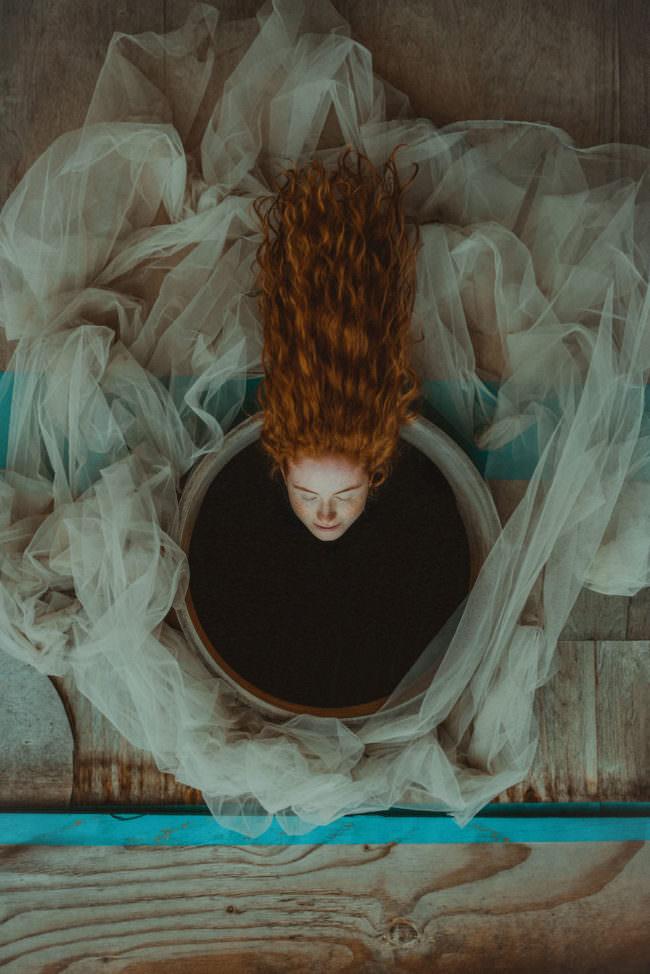 Surreales Bild einer Frau