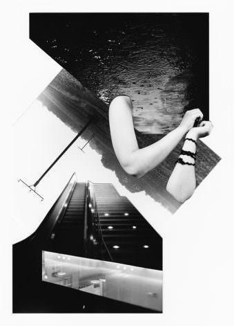 Collage in schwarzweiß