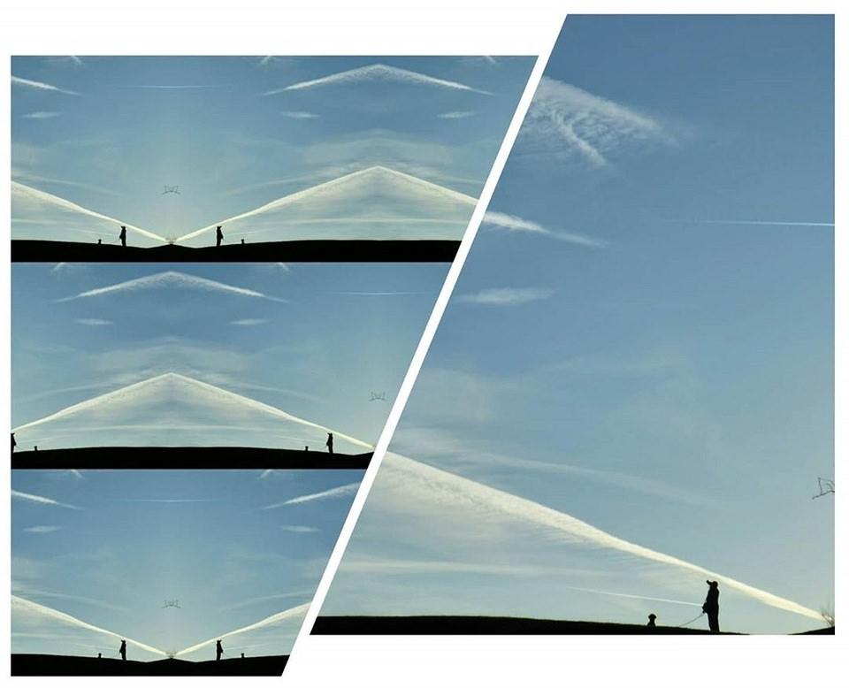 Collage blauer Himmel