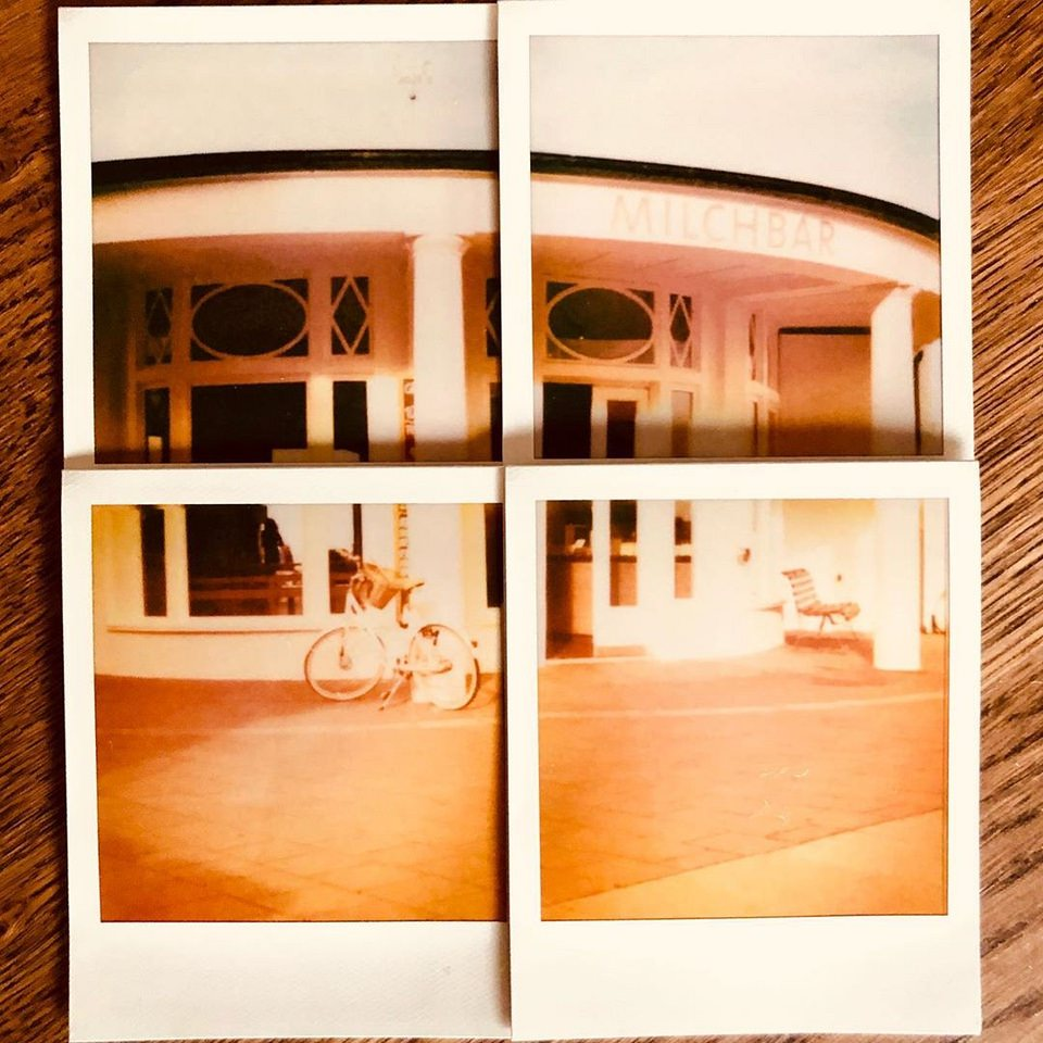 Collage aus Polaroids