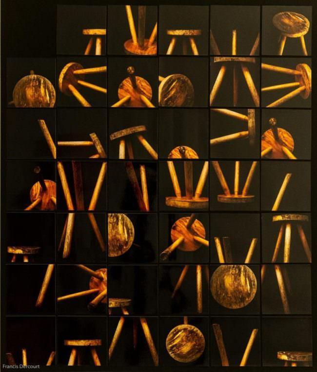 Collage Hocker