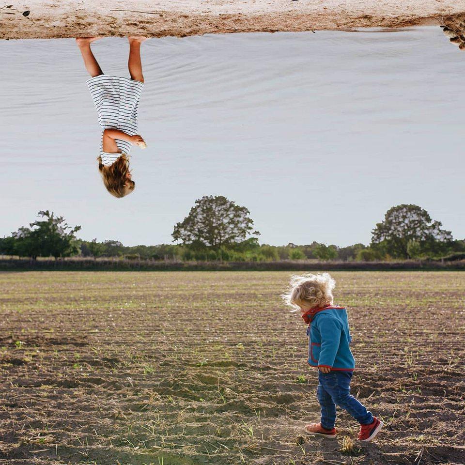 Collage zwei Kinder
