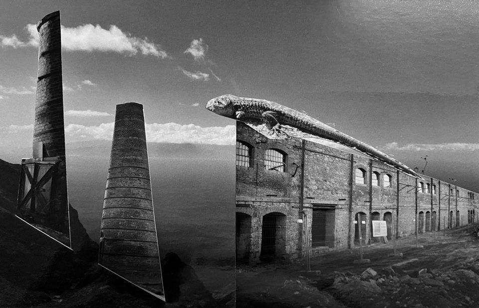 Collage einer Landschaft