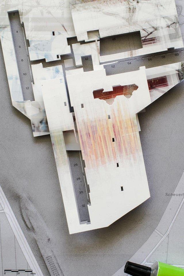 Collage Architekturmodell