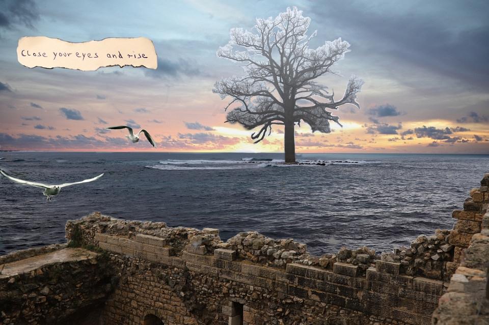 Collage Landschaft