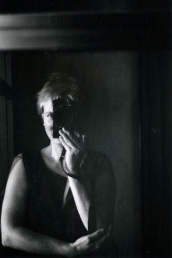 Fotografin beim Selbstportrait