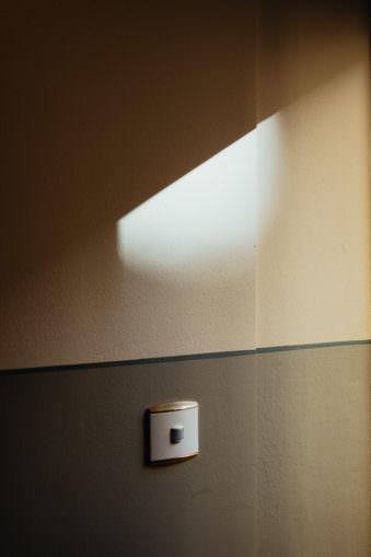 Lichtfleck an einer Wand
