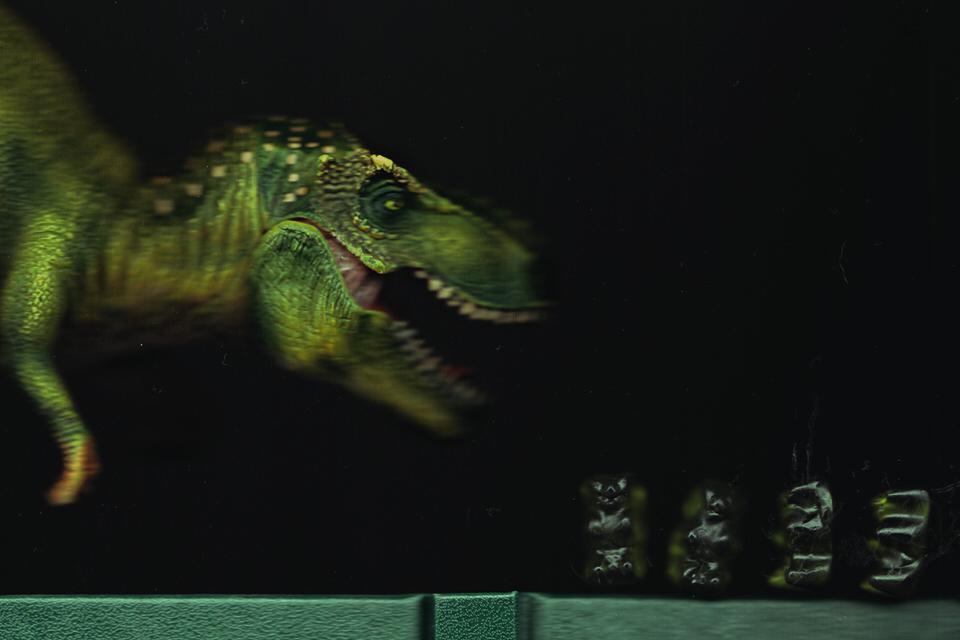 Dino jagd Gummibärchen