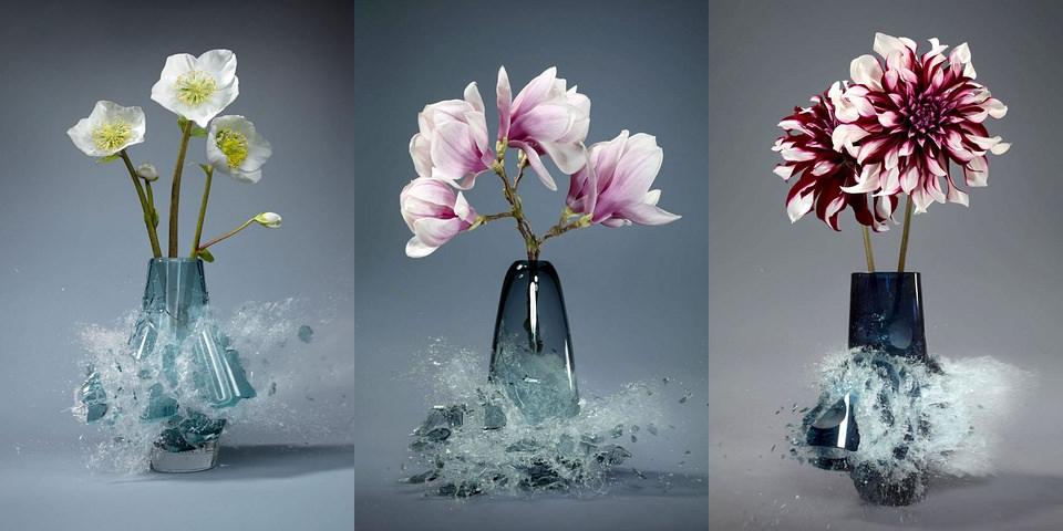 drei Blumenvasen