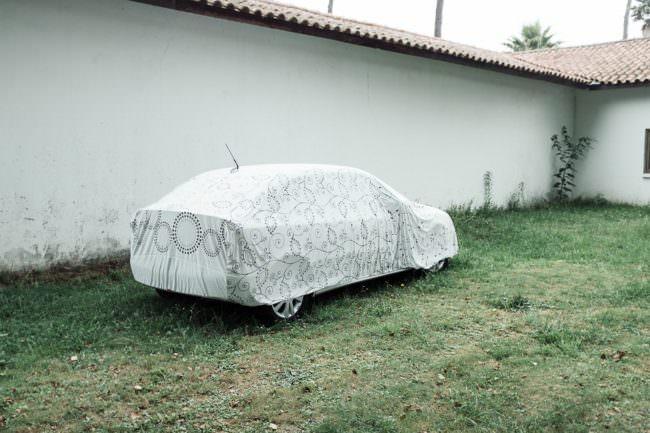 abgedecktes Auto