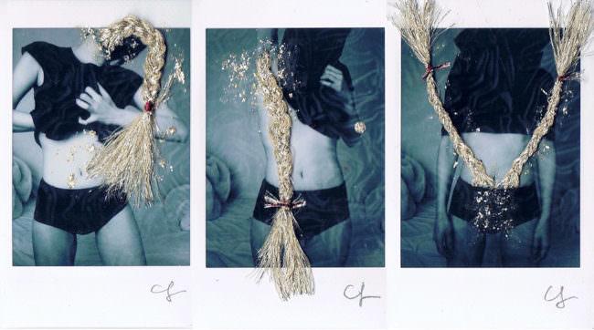 Polaroid mit Zöpfen