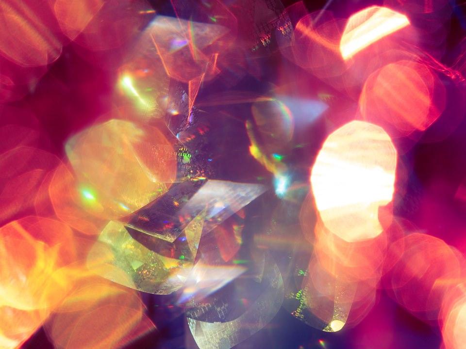 pink Lichtspiele abstrakt