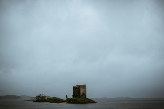 Burg auf einer Insel