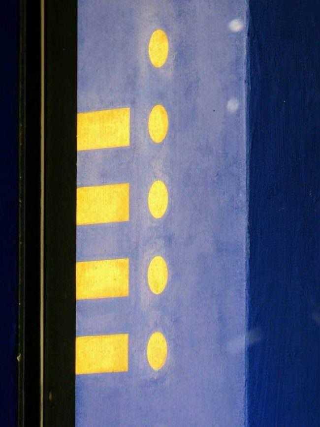 blau gelb abstrakt