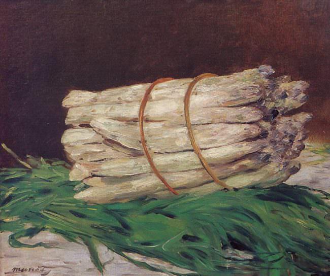 Gemälde mit Spargel