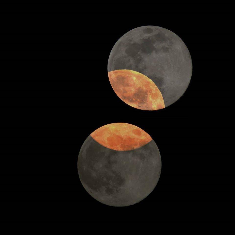 Mehrfachbelichtung Mond