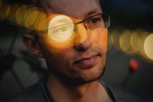 Portrait mit Lichteffekt
