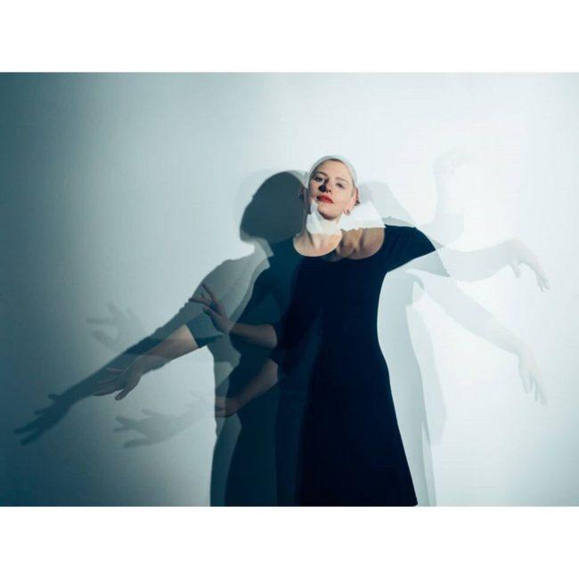 Tanzende Person Mehrfachbelichtung