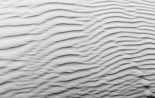 Sandstrukturen von oben