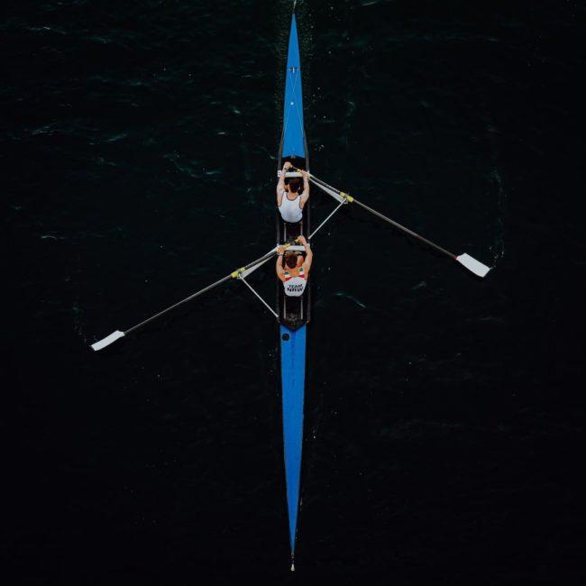 Ruderboot von oben